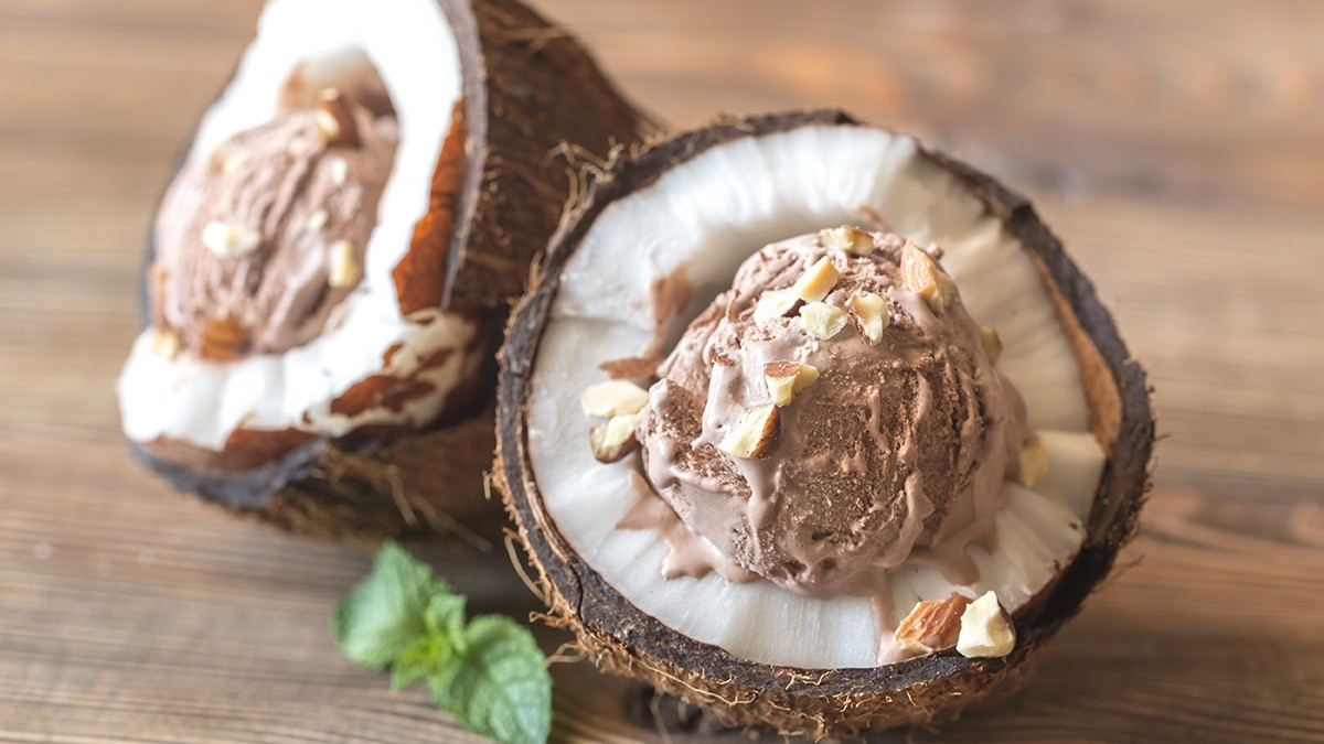 Coconut cacao nib ice cream
