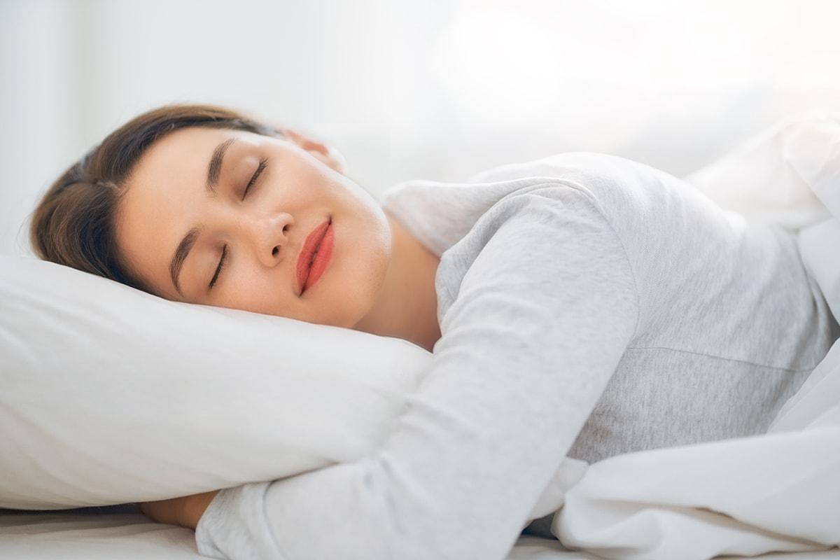 Woman getting a good night's sleep
