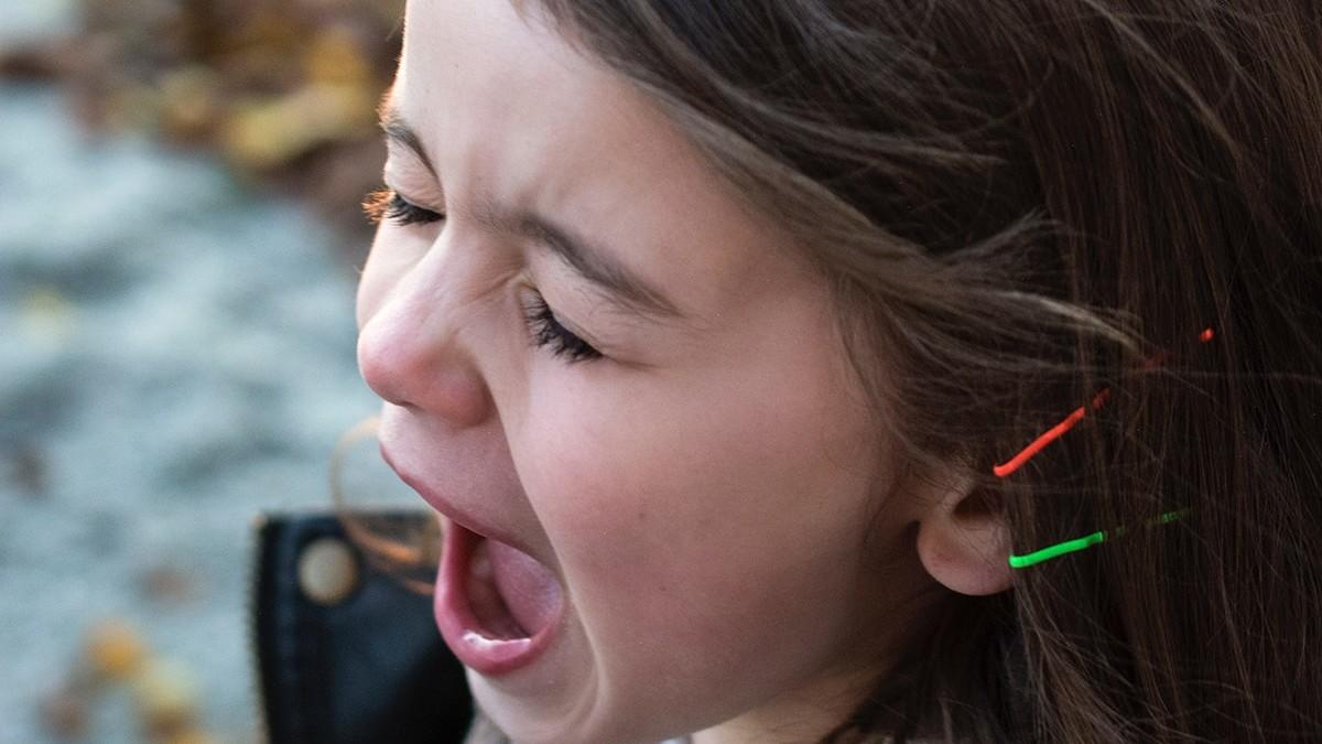 Angry girl having meltdown