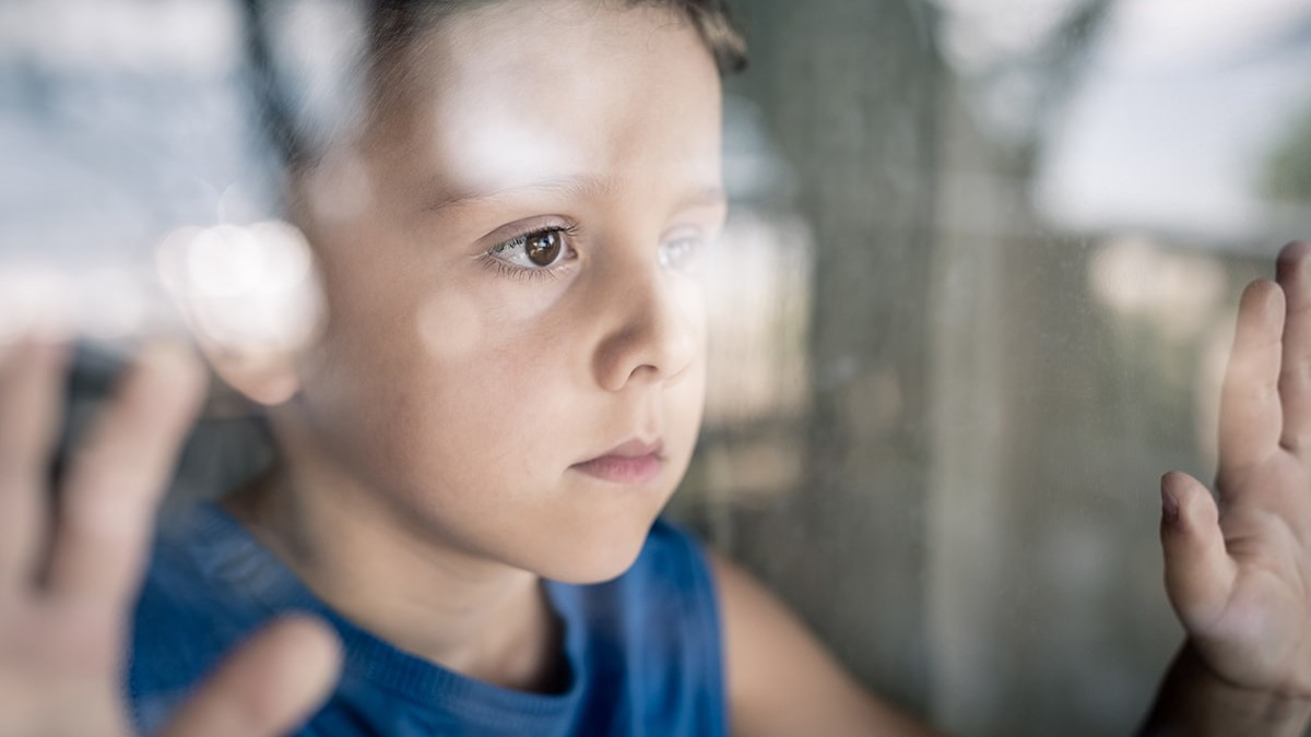 Child looking away
