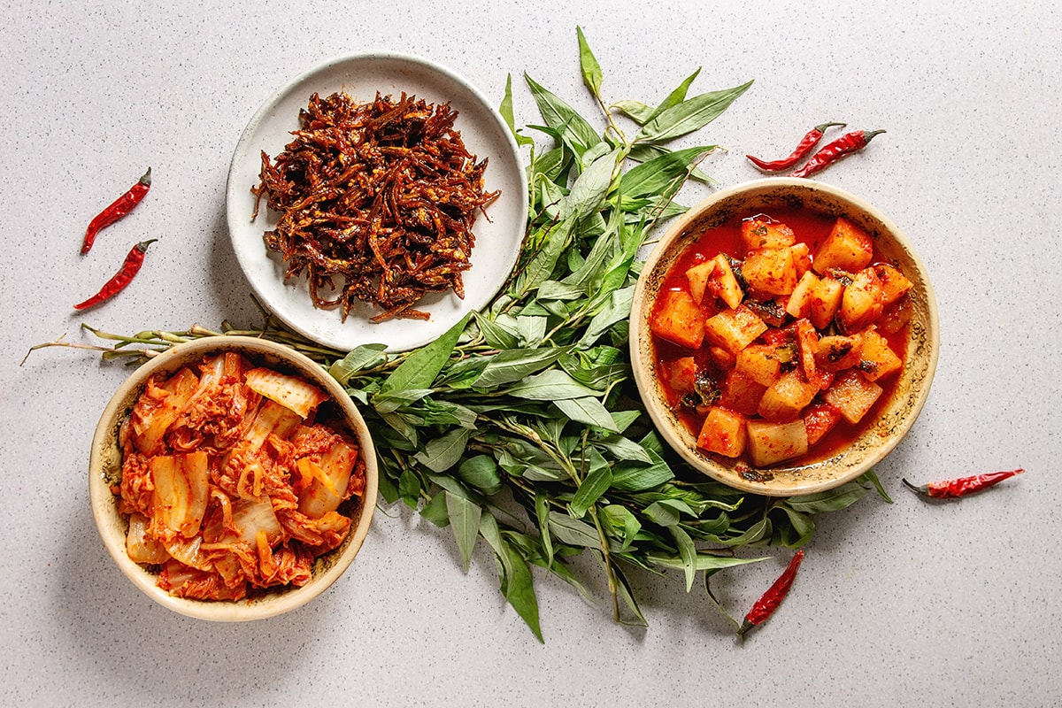 Kimchi and other fermented foods