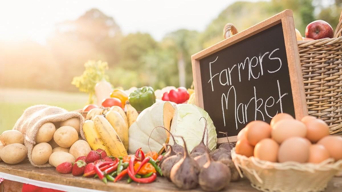 Local farmer's market vegetables