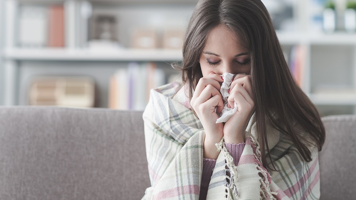 Sick Woman with a Cold