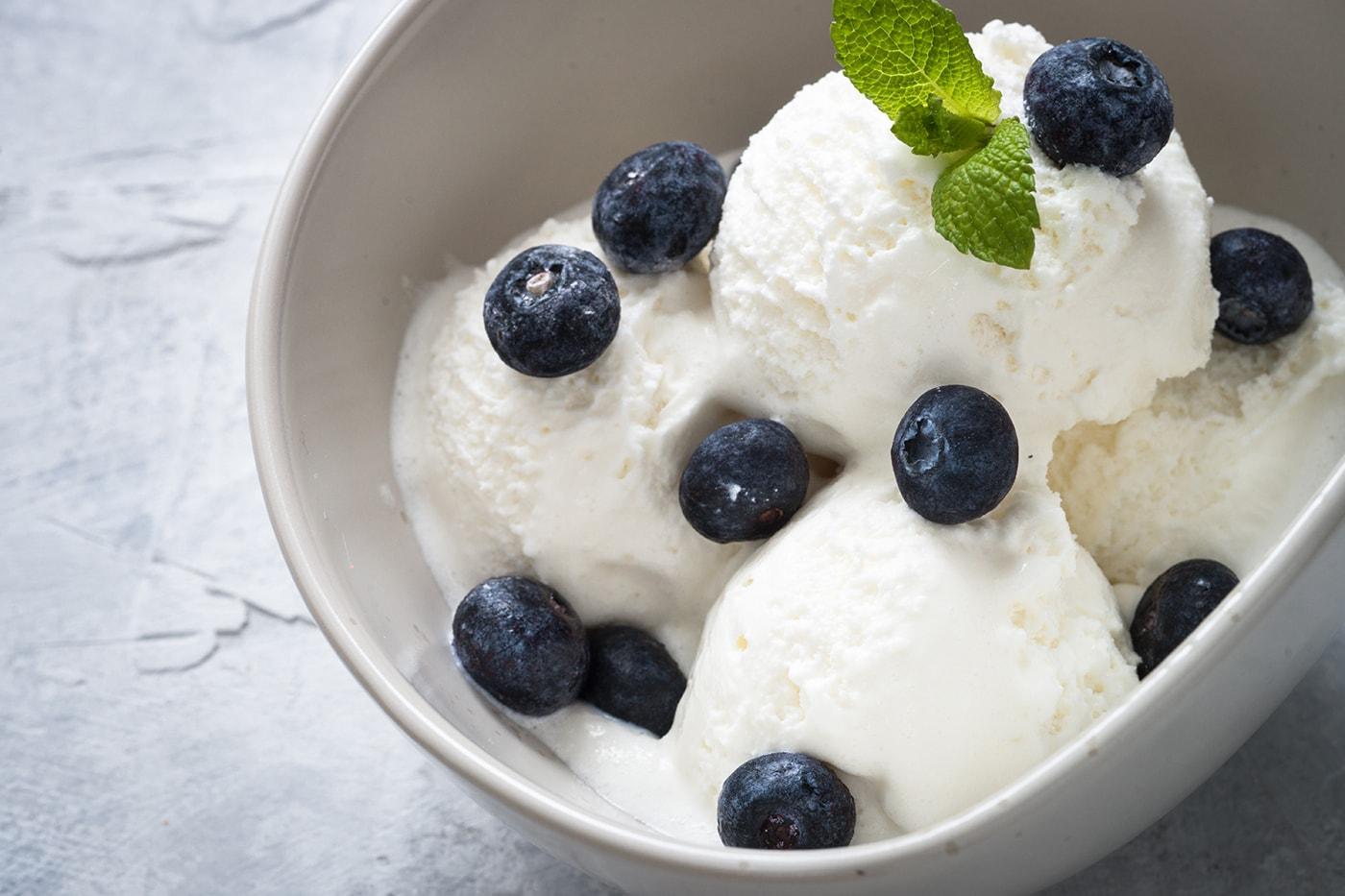 Blueberry Coconut Ice Cream