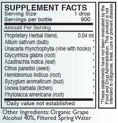 A-BART Supplement Facts