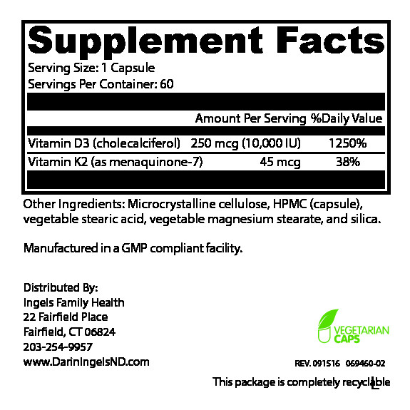 K2-D3 Supplement Facts