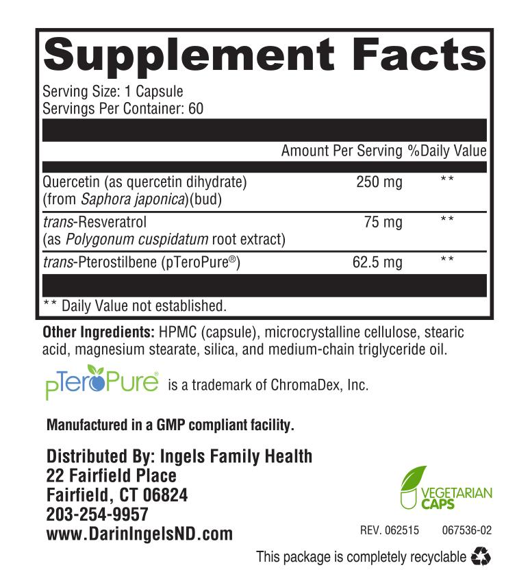 Resveratrol Plus supplement facts