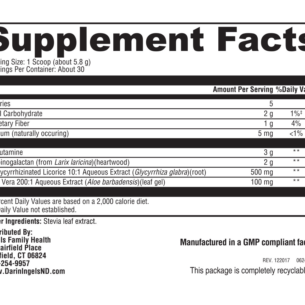 Glutamine Plus supplement facts