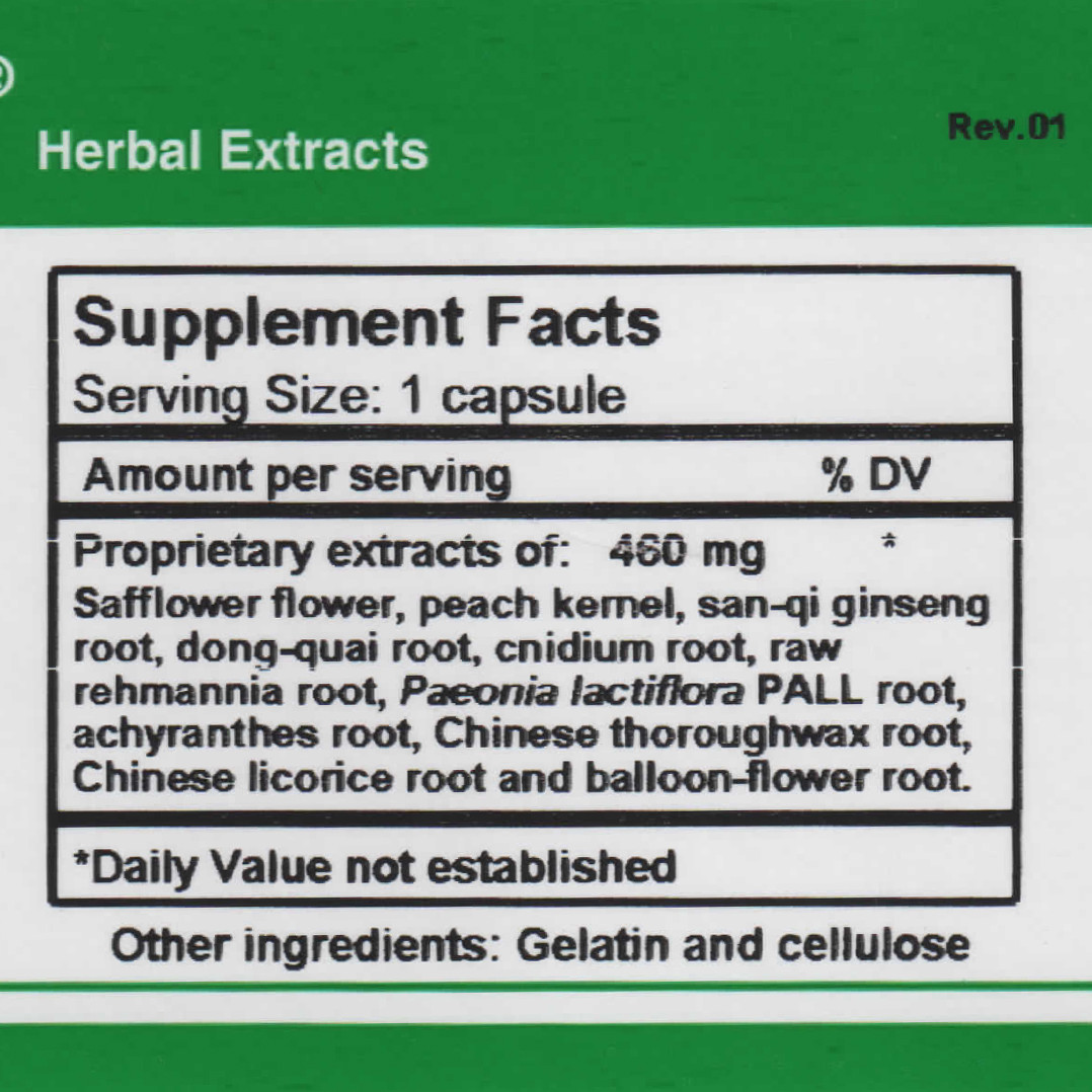 Circulation P supplement facts
