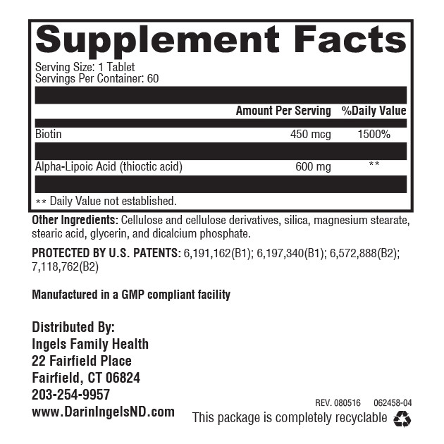 Super Lipoic Acid XR supplement facts
