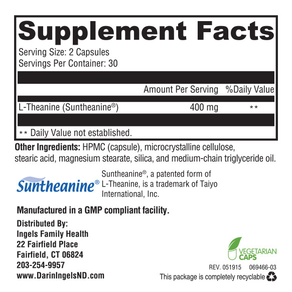 Bliss supplement facts