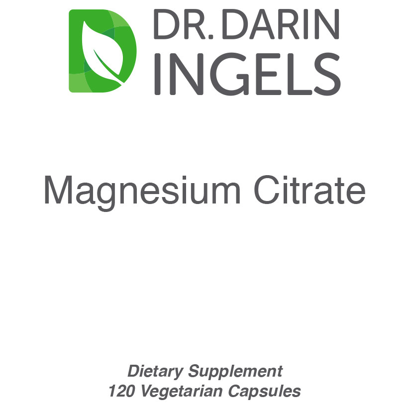 Magnesium Citrate 100 mg front label