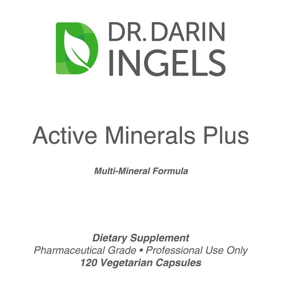 Active Minerals Plus front label