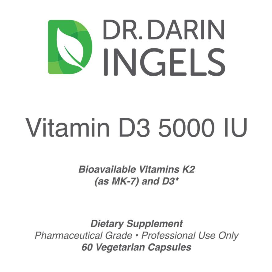 Vitamin D3 5000 Front Label