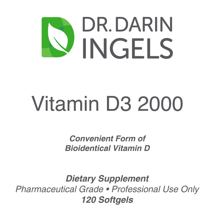 Vitamin D3 2000 front label