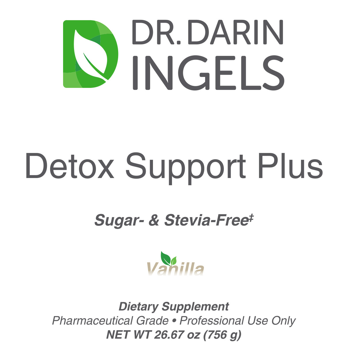 Detox Immune Support Vanilla front label