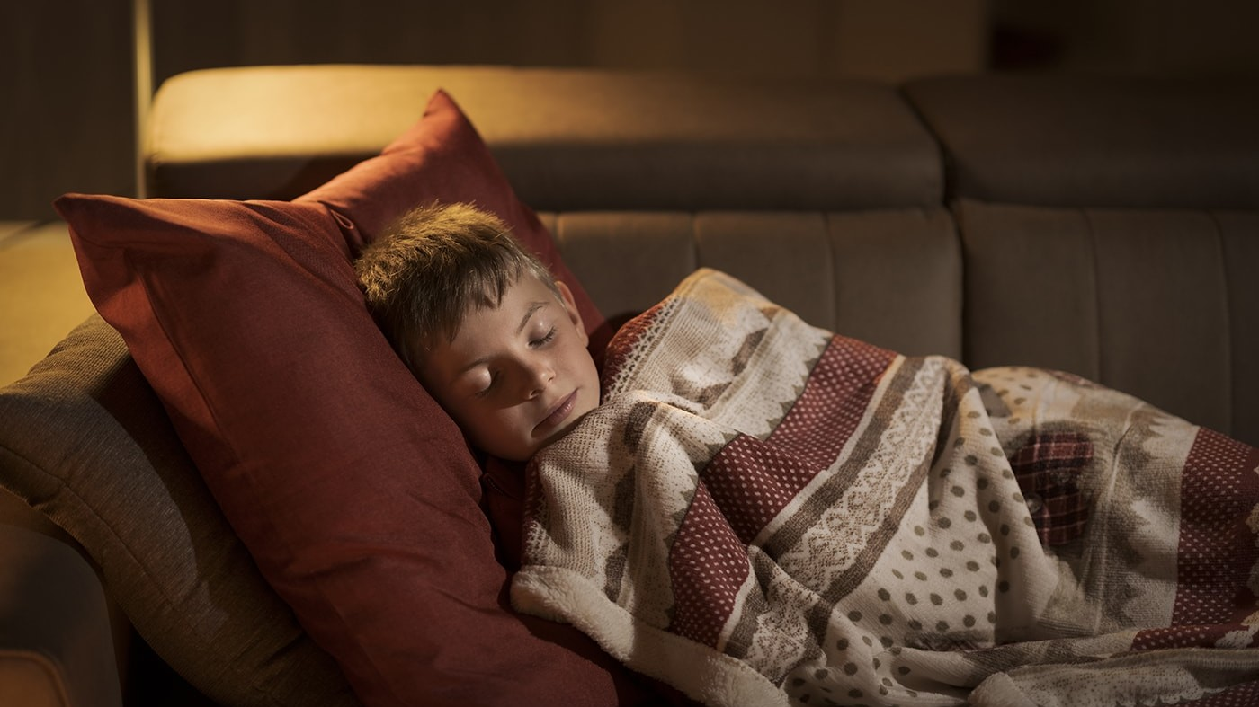Sleeping kid with Lyme disease
