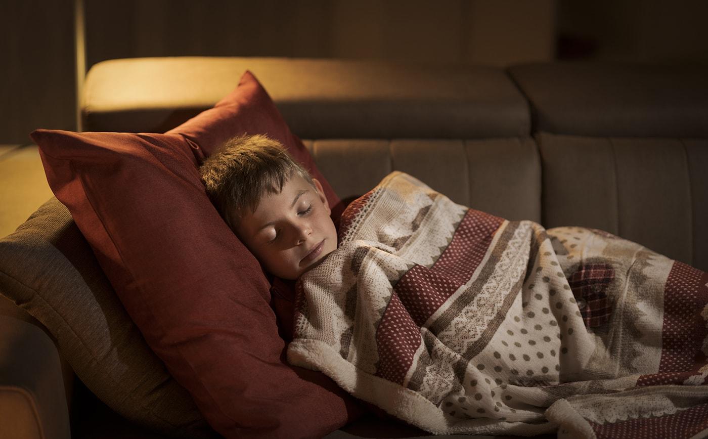 Sleeping kid with Lyme disease