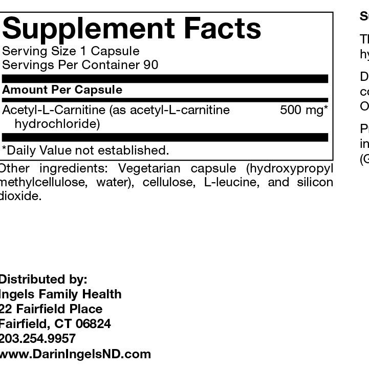 Acetyl-L-Carnitine label