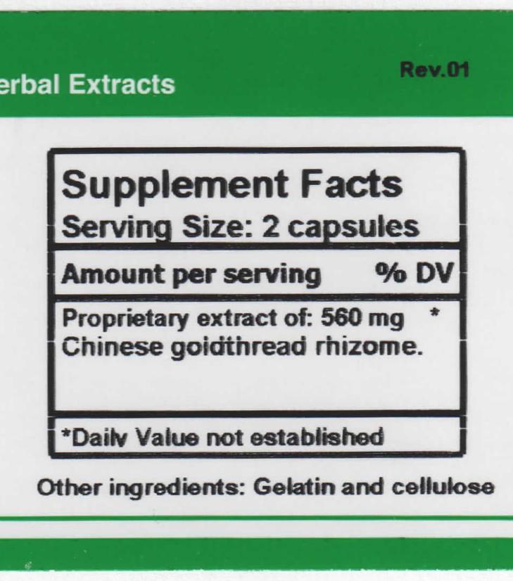 Coptis supplement facts
