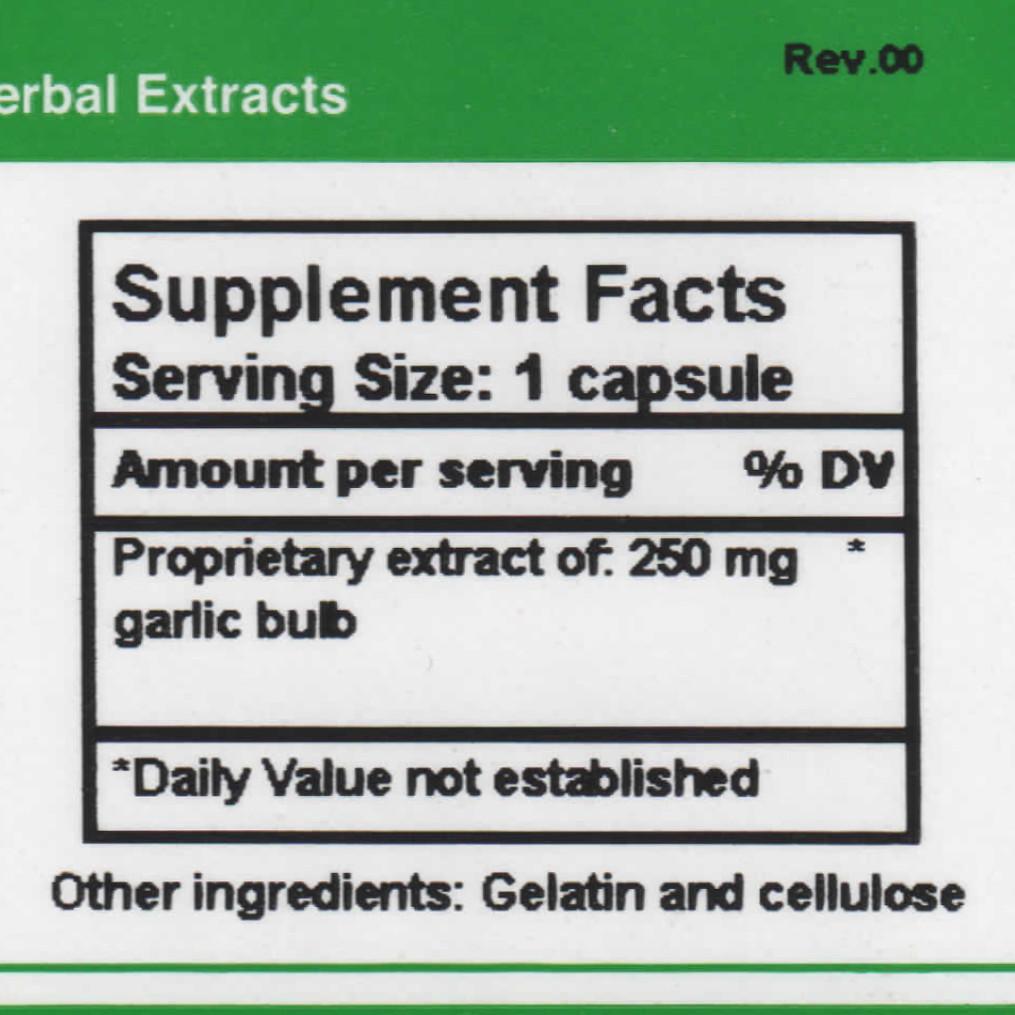 Allicin supplement facts