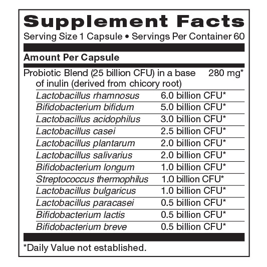 Probiotic Complete supplement facts
