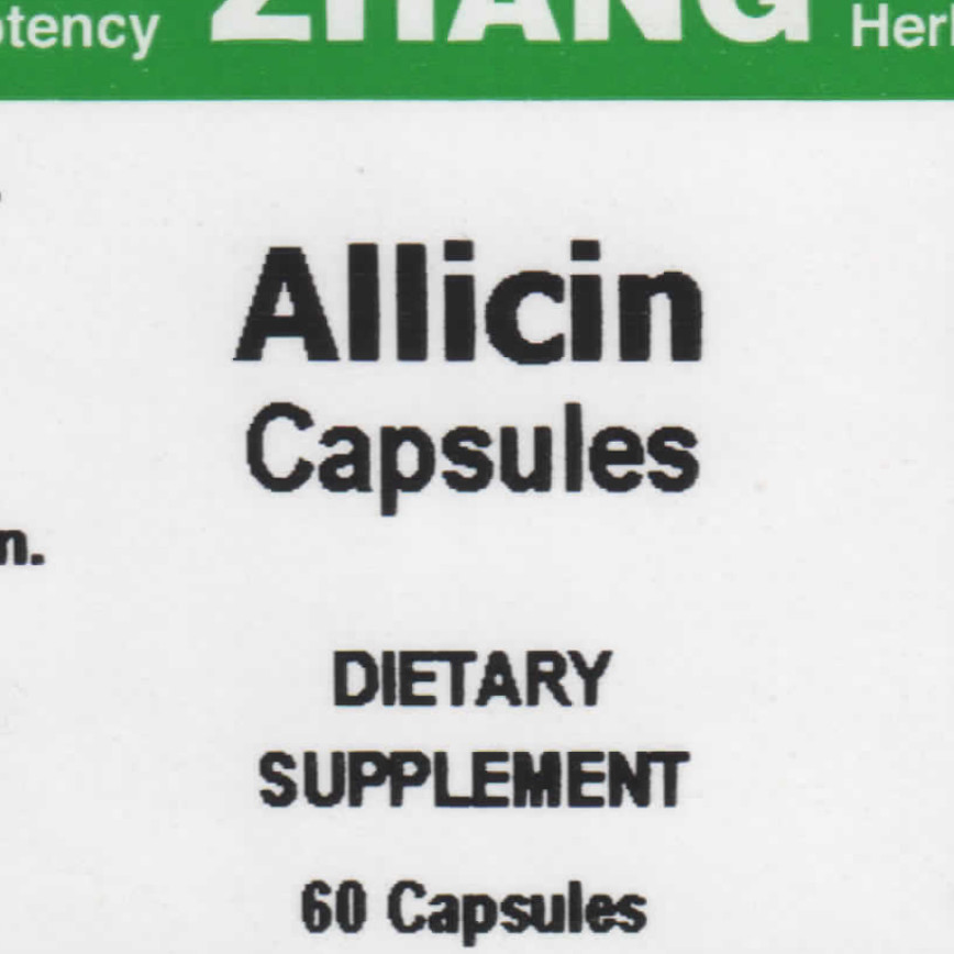 Allicin front label