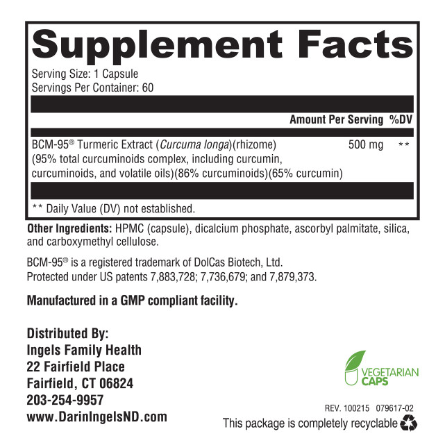 Curcumin Supreme supplement facts