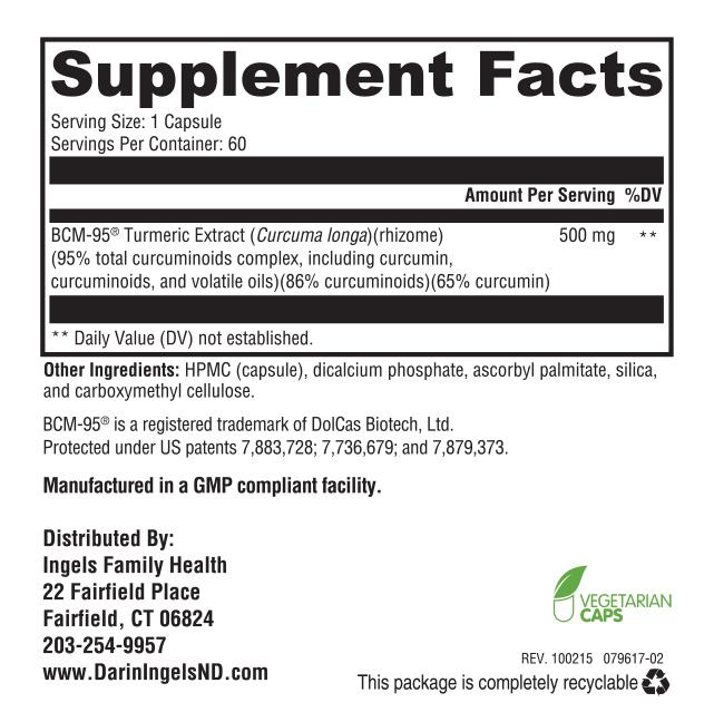 Curcumin Supreme supplement facts