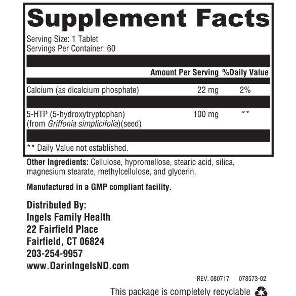 5-HTP Supplement Facts