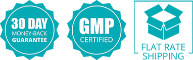 30-Day Money Back Guarantee, GMP Certified and Flat Rate Shipping