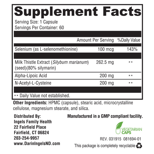 Liver Defense supplement facts