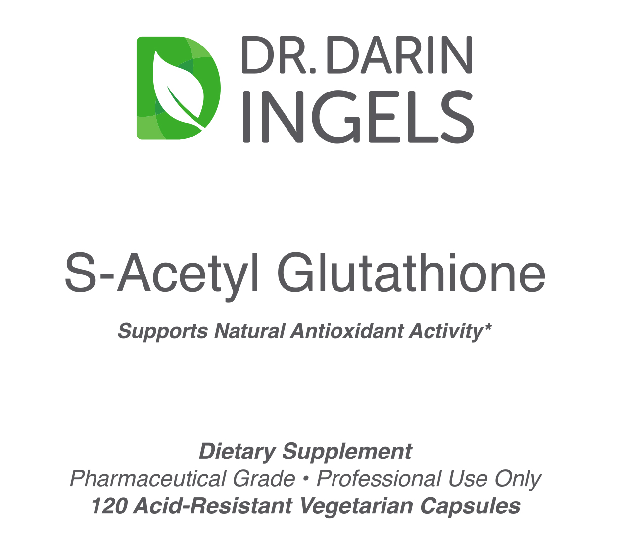 S-Acetyl Glutathione front label