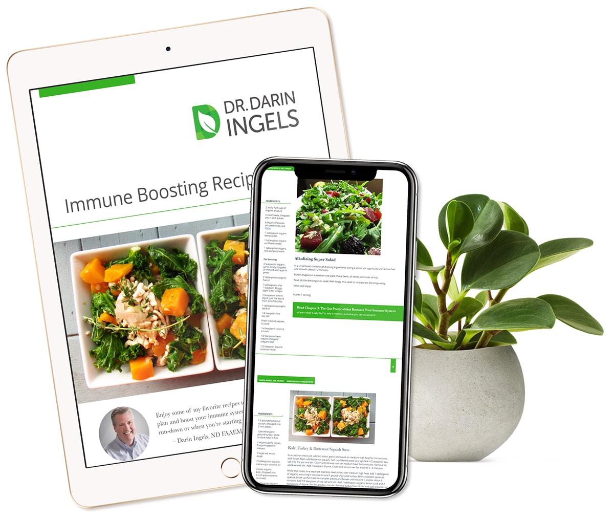 Free recipe ebook on an ipad and iphone