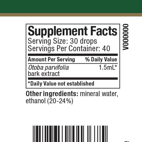 Banderol Supplement Facts