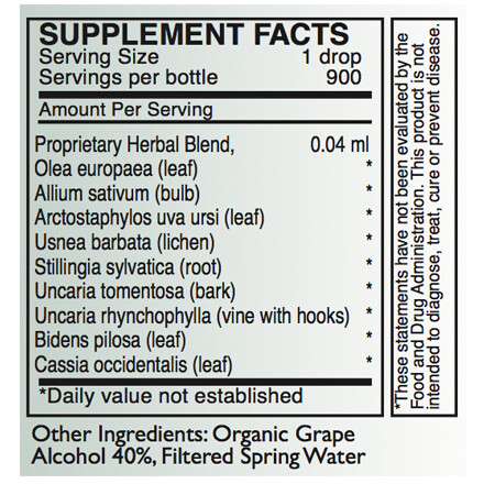 A-Myco Supplement Facts