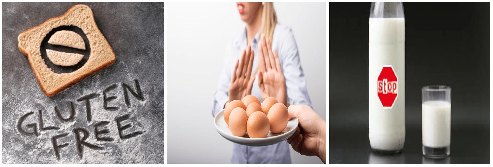 No Gluten No Eggs No Dairy